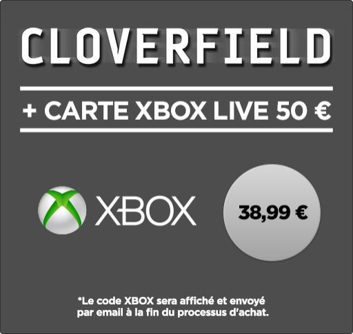 Code Xbox Live de 50€ + Location du Film Cloverfield en VOD