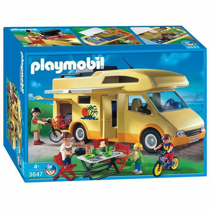 [10 Vignettes SimplyMarket] Camping car Playmobil 3647