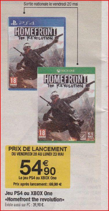 Homefront The Revolution sur Xbox One et Ps4