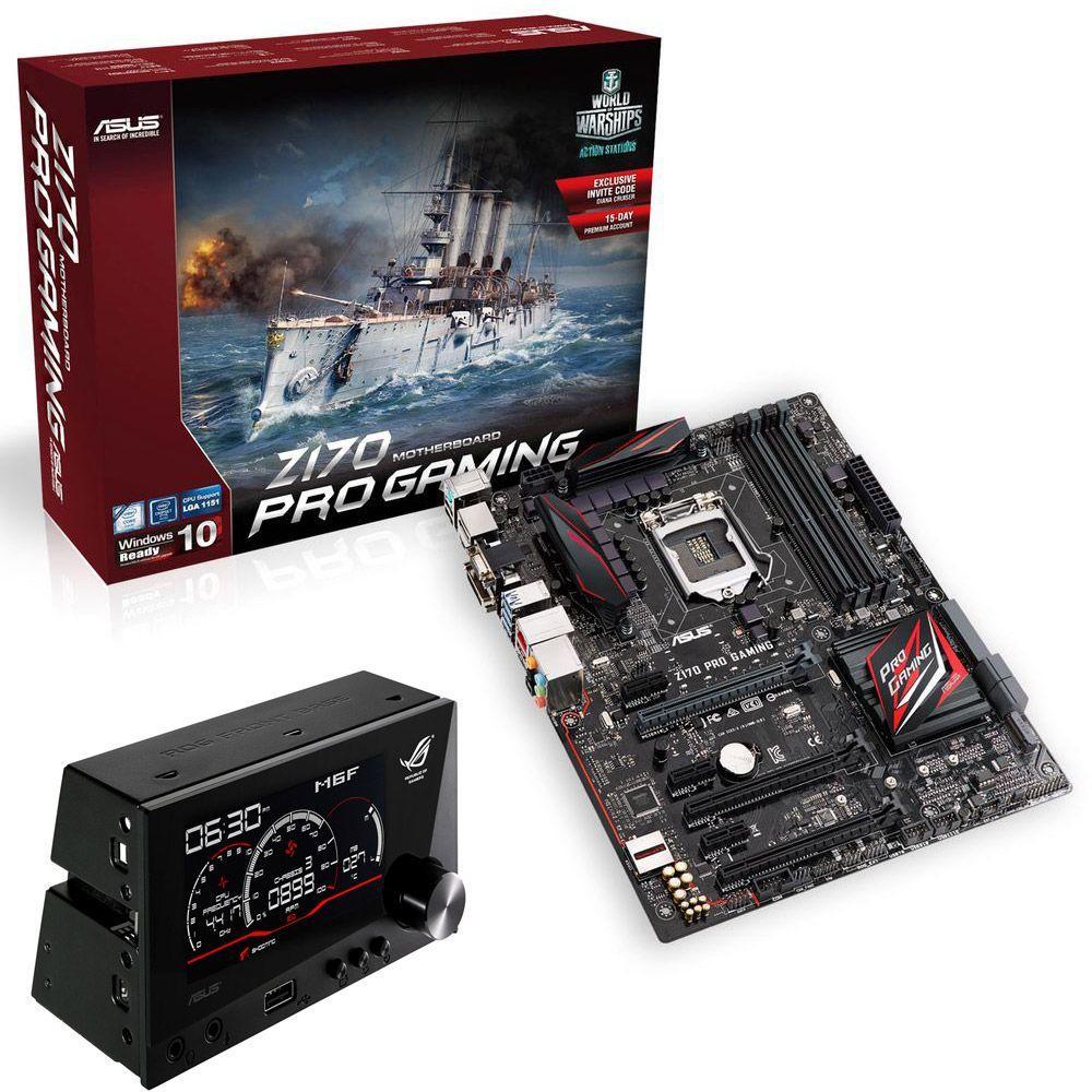 Carte mère Asus Z170 Pro Gaming + contrôleur Asus ROG Front Base + Doom