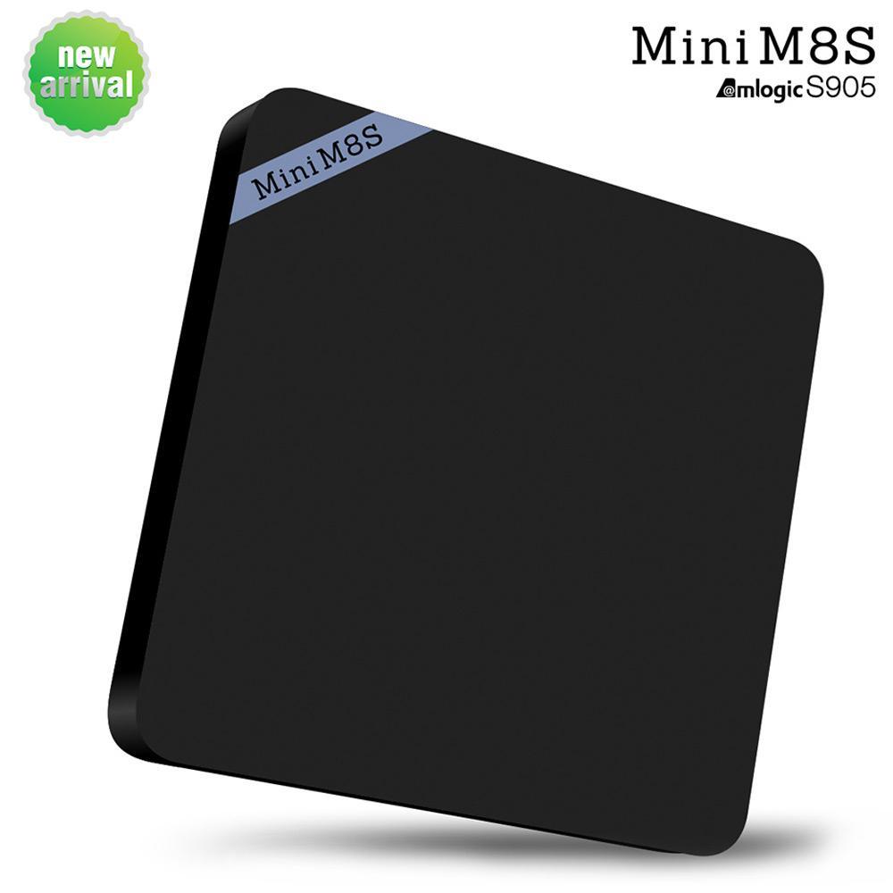 Box Android Mini M8s Amlogic S905 4K Kodi H265 - Quad Core 2.0 GHz, Wifi, Miracast, DLNA