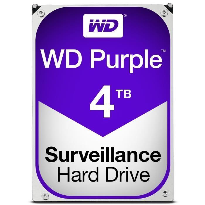 "Disque dur interne 3,5"" Western Digital Purple - 4 To (+ 66,54€ offerts en 1 bon d'achat)"
