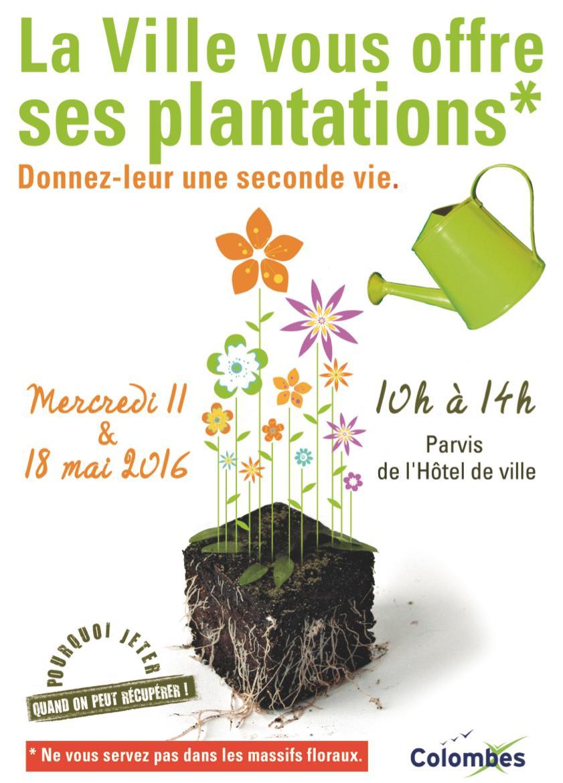 Plantes et fleurs gratuites le Mercredi 18 mai de 10h à 14h