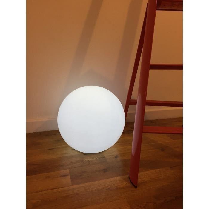 Sphère lumineuse Batimex E27 sur secteur - 40 cm, Blanche