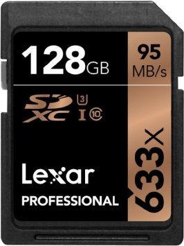 Carte mémoire SDXC Lexar Professional Class 10 UHS-I U3 633x - 128 Go