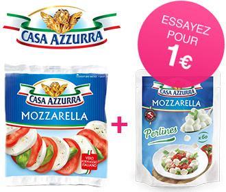 Mozzarella 125g ou 150g + Perlines 120g Casa Azzurra (via Shopmium + BDR)
