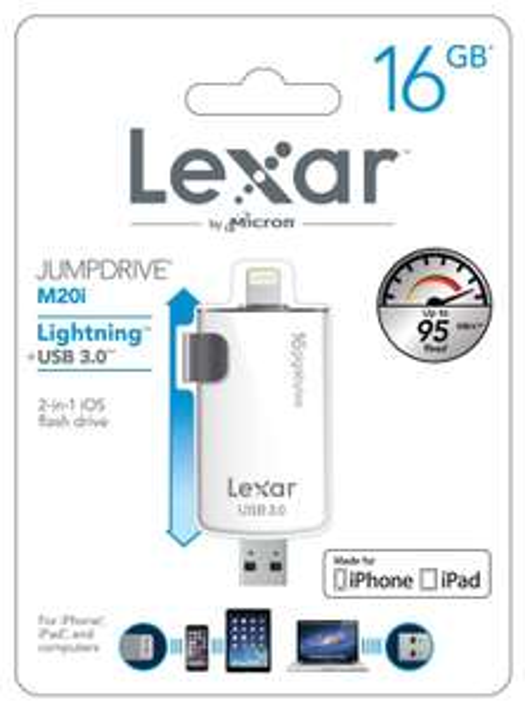 Clé USB 3.0 Lexar JumpDrive M20i Lightning (iOS) - 16Go