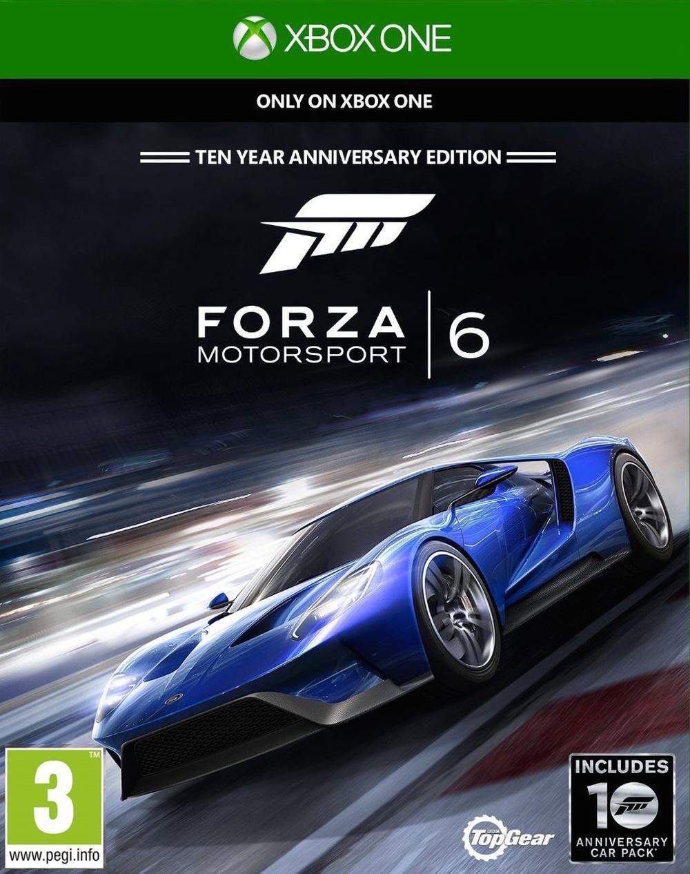 Forza Motorsport 6 Edition 10ème Anniversaire sur Xbox One