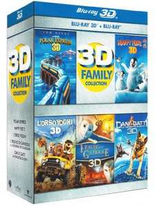 Coffret 3D Family Collection 5 Films (5 Blu-Ray 2D + 5 Blu-Ray 3D) VF Incluse (sauf Yogi Bear)