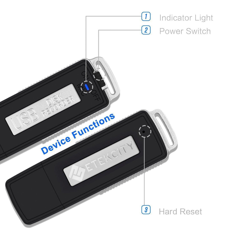 Dictaphone Numérique / Clé USB 8Go Etekcity