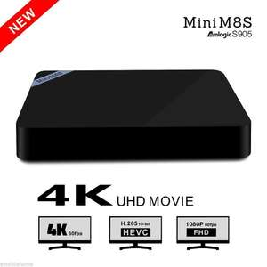 Box Android Mini M8S Amlogic S905 Xmbc Android 5.1 Quad-core 2.4GHz WiFi BT 4.0 2G+8G