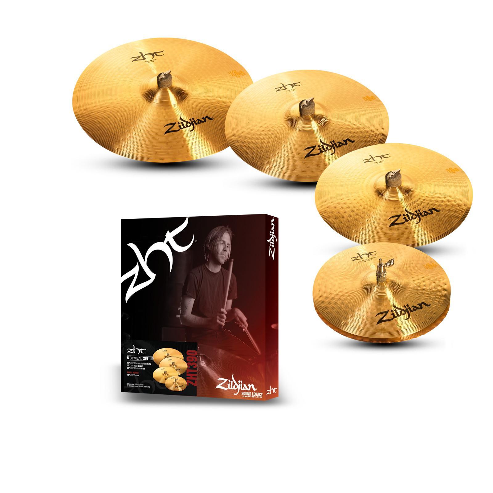 """Pack de Cymbales Zildjian ZHT390-WB - 14"""" / 17"""" / 20"""" + Crash 16"""""""