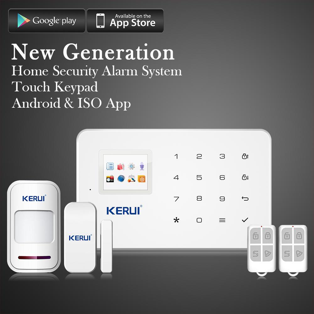 Alarme sans fil GSM Kerui G18 - 2 capteurs + 2 télécommandes