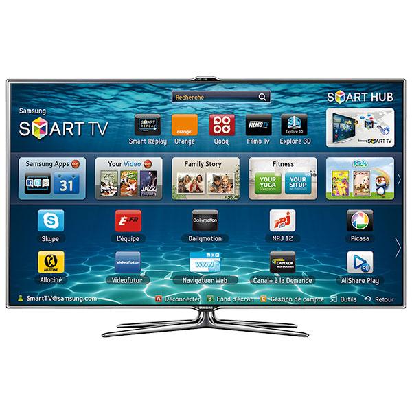 "TV LED 46"" Samsung UE46ES7000 - Full HD, 3D, Smart TV, Contrôle gestuel..."