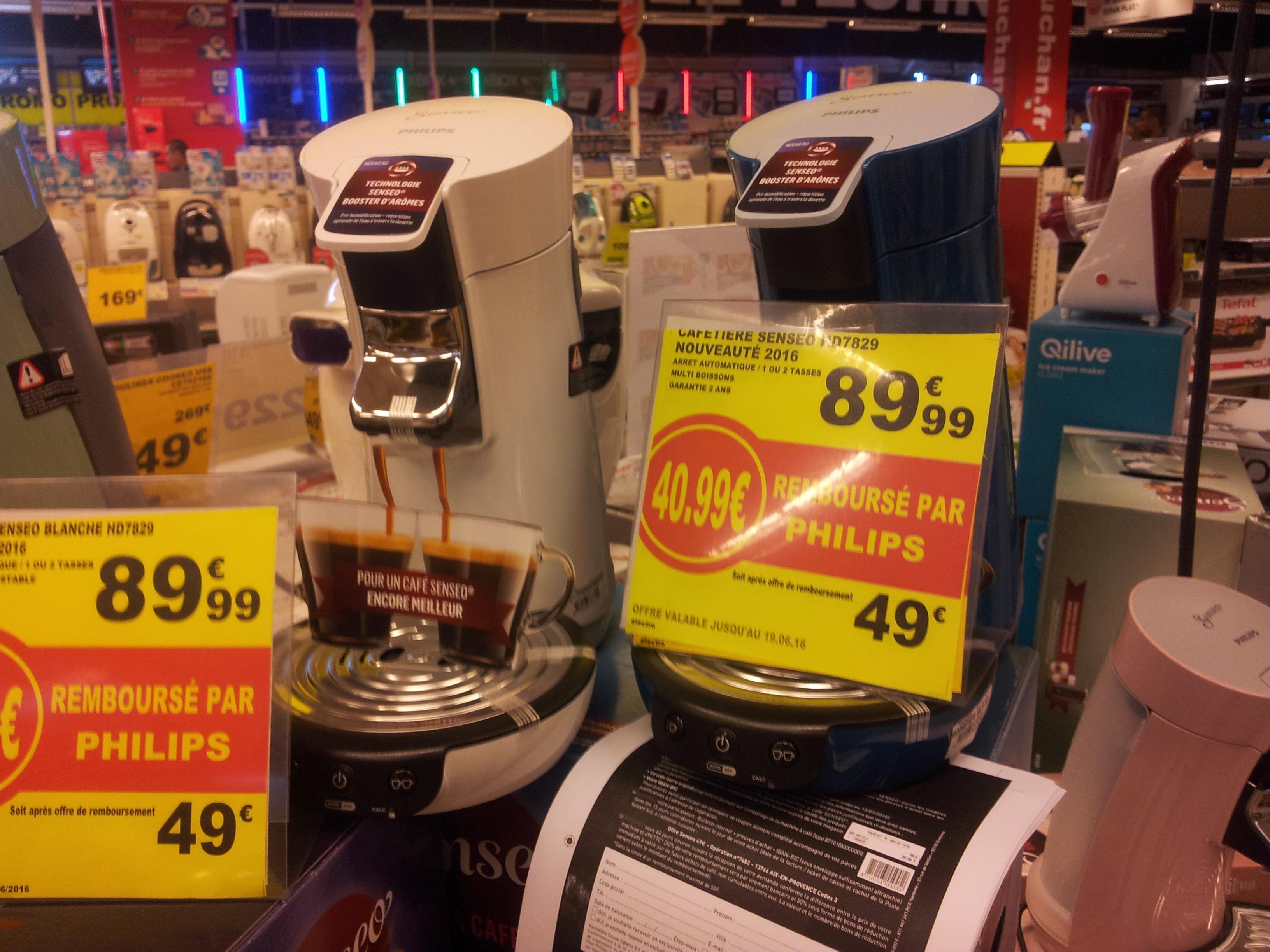 Cafetière Senseo HD7829 (Via ODR de 40.99€)