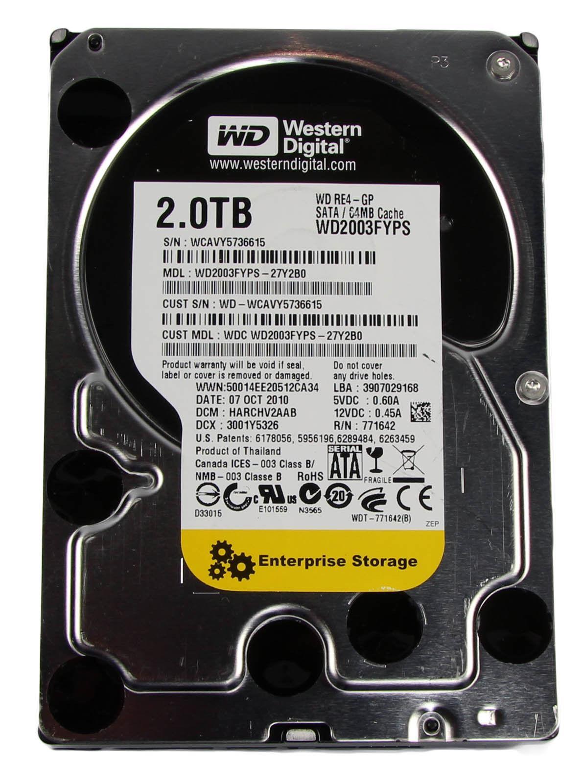 "Disque dur interne 3.5"" Western Digital WD2003FYPS - 2To"