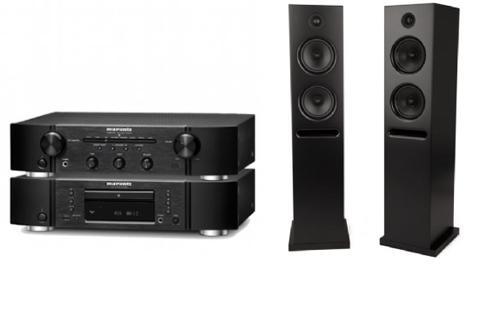 Pack ampli stéreo Marantz PM6005 + platine CD Marantz CD6005 + paire d'enceintes colonnes Epos K2