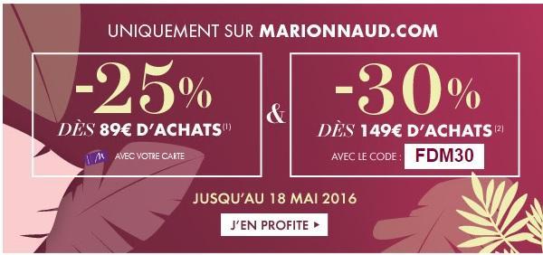 30% de réduction dès 149€ d'achat ou 25% de réduction dès 89€ d'achat