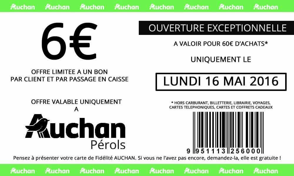 6€ de réduction dès 60€ d'achat