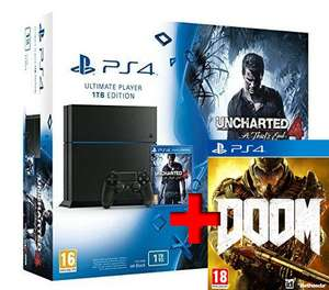 Doom Edition Spéciale Offert pour l'achat d'un pack PS4 - Ex: Pack Console Sony Playstation 4 1 To Uncharted 4 + Doom UAC