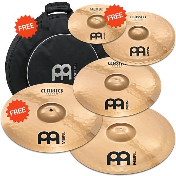 Pack Meinl Classics - 5 cymbales + Housse de rangement