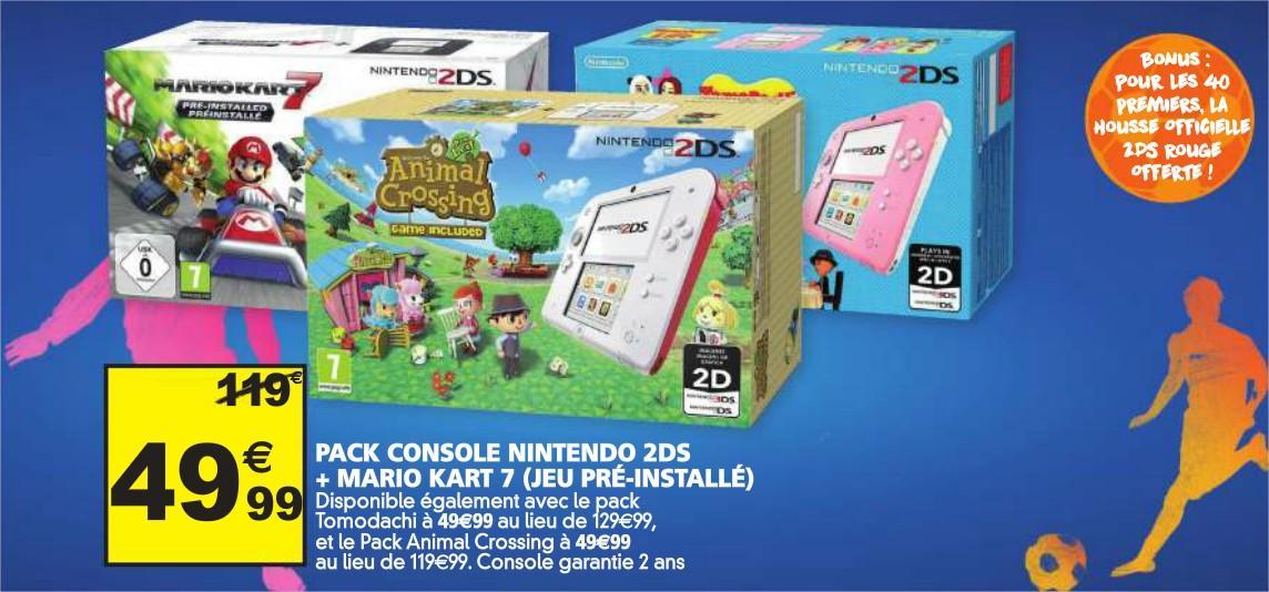 Pack Console 2DS + 1 jeu (différents coloris & jeux au choix)