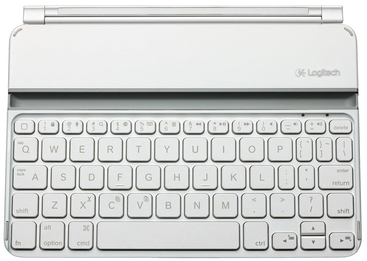 Clavier Sans-fil Magnétique Logitech Ultrathin pour IPad Mini - Azerty, Bluetooth, Blanc