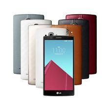 """Smartphone 5.5"""" Cuir LG G4 H815 (EU) - 32Go, Prise US et adaptateur, Coloris au choix"""