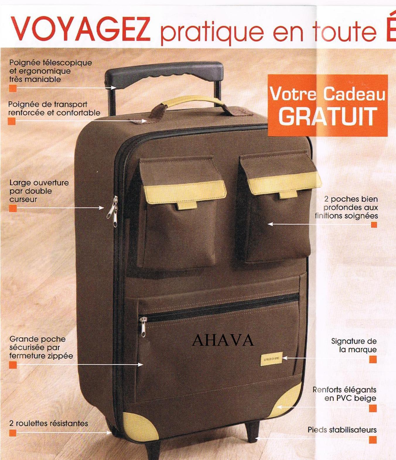 Galon dentelle + valise marron en cadeau+ boites de conservation si 2 articles