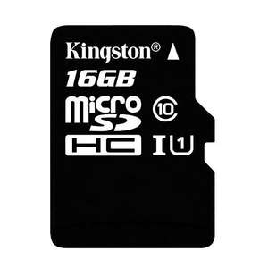 Carte microSDHC Kingston UHS-I classe 10 - 16 Go + adaptateur SD