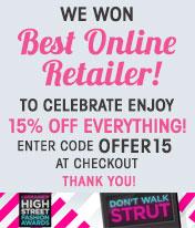 15% de réduction sur tout le site sans minimum d'achat : vêtements, accessoires (FDP gratuit)