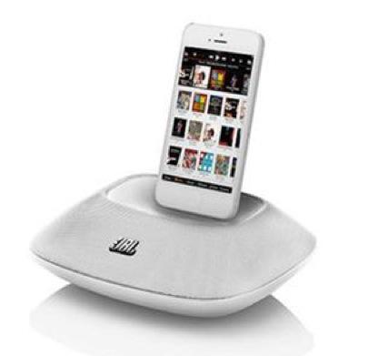 [Offre adhérent] Enceinte avec dock iPhone 5 ainsi qu'un port USB JBL On Beat Micro Blanche