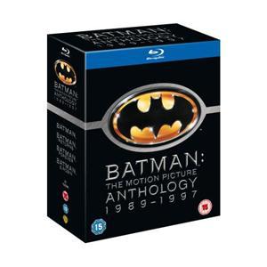 Coffret Blu-Ray Batman Anthology (1989-1997) : Batman - Batman, le défi - Batman Forever - Batman & Robin