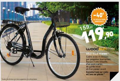 Vélo ville Femme Woodsun – Dealabs.com 836588921438