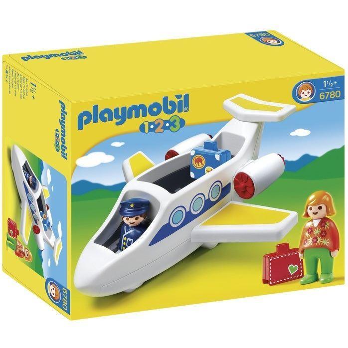 Playmobil 1.2.3 6780 - Avion de Ligne
