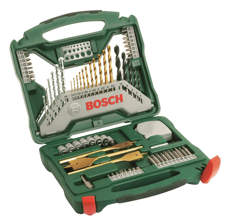 Coffret X-Line Bosch  Titane de 70 pièces