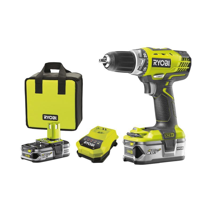 Pack perceuse visseuse Ryobi one+ (18 V) + 2 batteries + accessoires (via ODR de 30€)