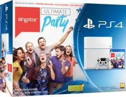 Sélection de packs PS4 en promotion - Ex : console Sony PS4 (500 Go, blanche) + SingStar Ultimate Party