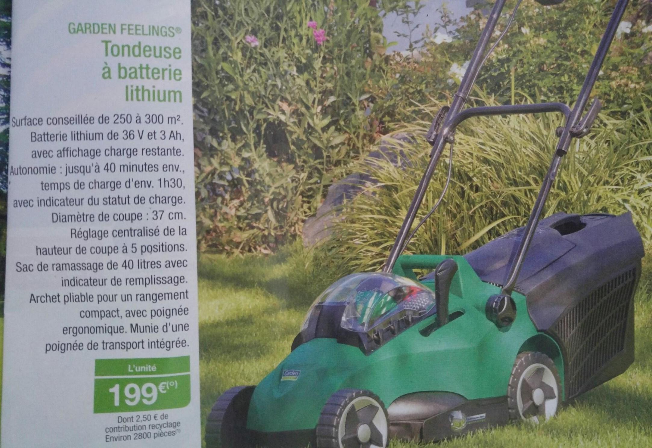 Tondeuse Garden Feelings - batterie lithium