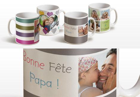 5€ de réduction sur les Mugs personnalisés