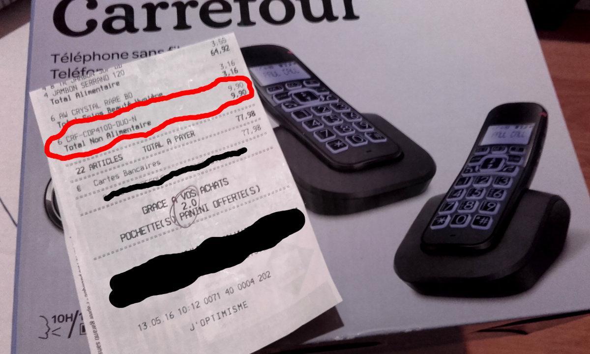 Duo combiné téléphonique sans fil Carrefour CDP410D noir