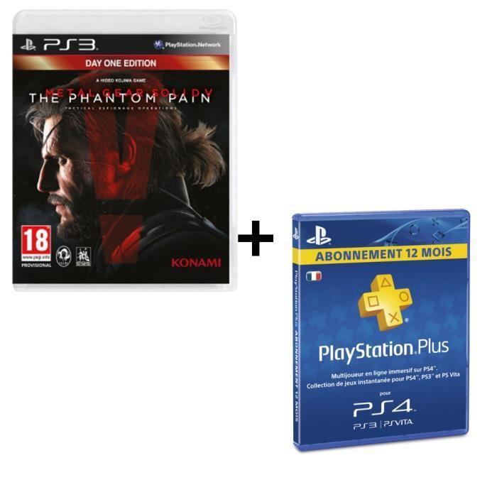 Abonnement Playstation Plus 12 mois + Metal Gear Solid V : The Phantom Pain sur PS3