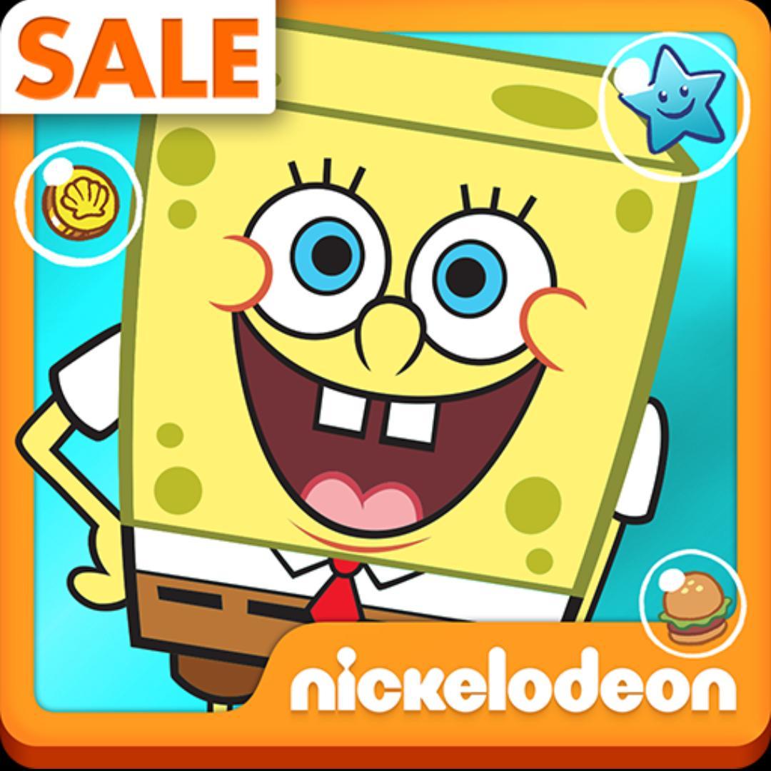 Sélection d'applications Nickelodeon sur Android en promotion - Ex : Bob l'éponge Bikini Bottom