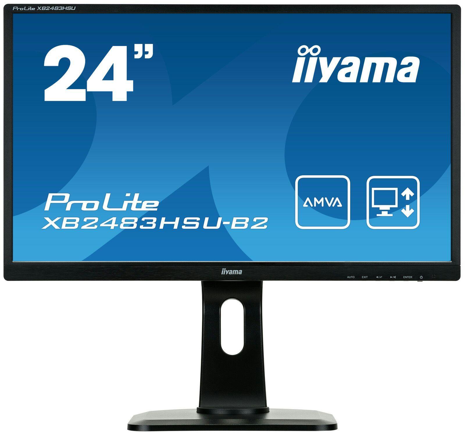 "Ecran PC 24"" Iiyama ProLite XB2483HSU-B2 - Full HD, AMVA+ (Via applications mobiles)"