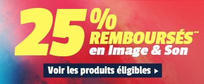 25% crédités en 1 bon d'achat sur une sélection d'articles Image et Son