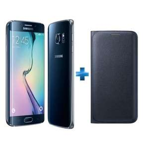 """Smartphone 5.1"""" Samsung Galaxy S6 Edge 32 Go + coque wallet (via ODR 100€)"""