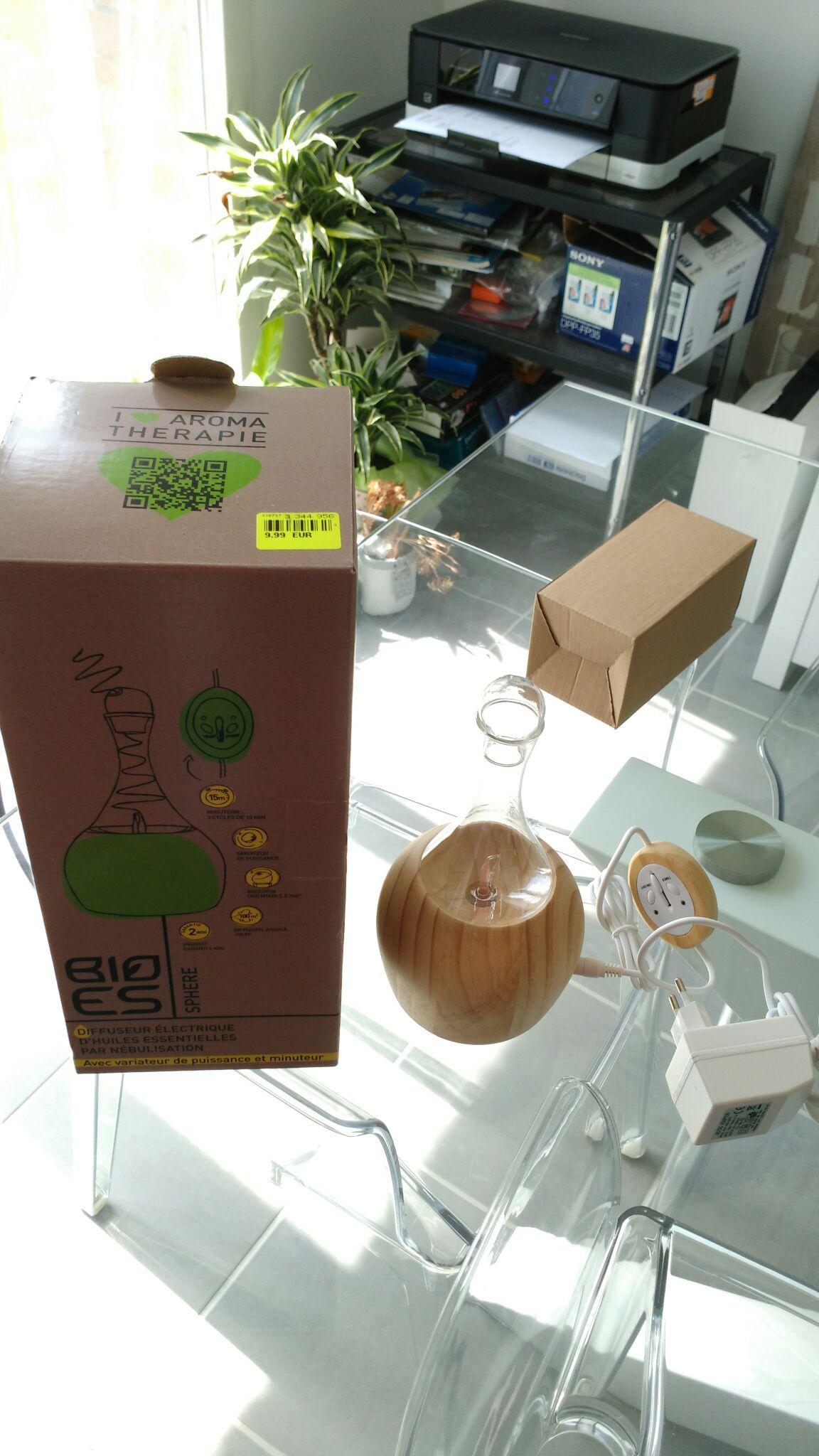 Diffuseur électrique d'huiles essentielles par nébulisation Bioes