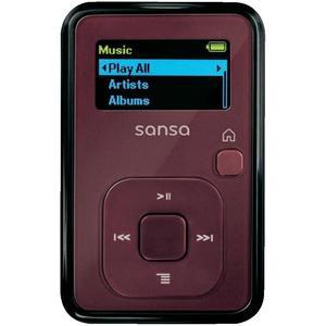 Lecteur MP3 SanDisk Sansa Clip+ 8Go avec slot micro SD rouge - Reconditionné