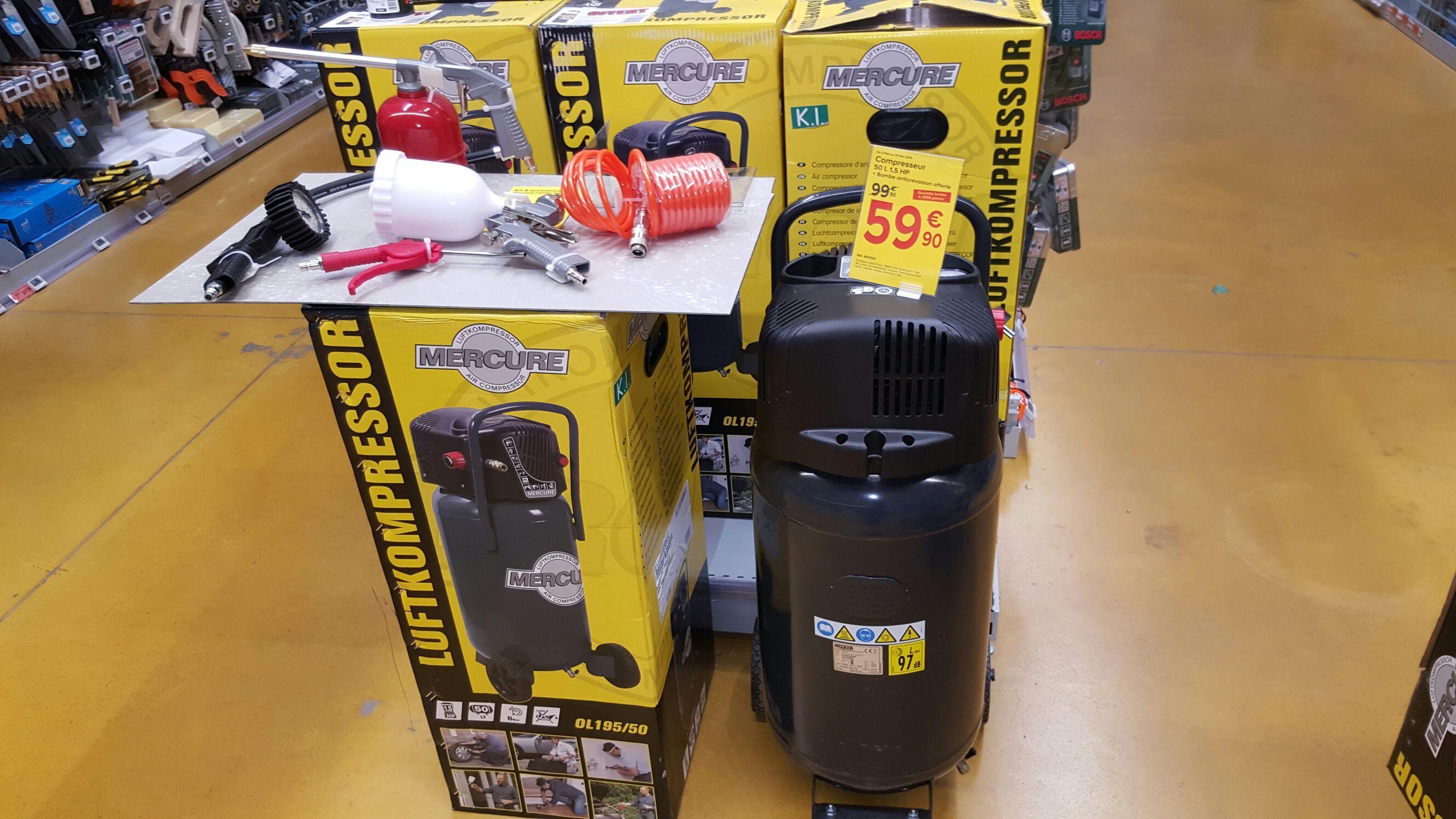 Compresseur Mercure OL195/50 (50 L)