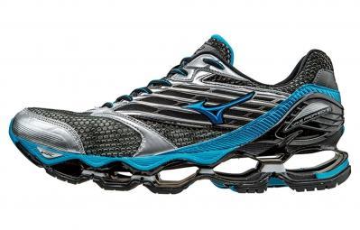 Chaussures de Sport Mizuno Wave Prophecy 5 pour Hommes - Argent / Bleu